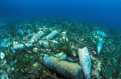 мусор в море