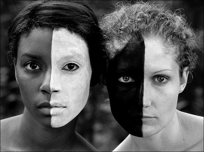 белые и черные люди