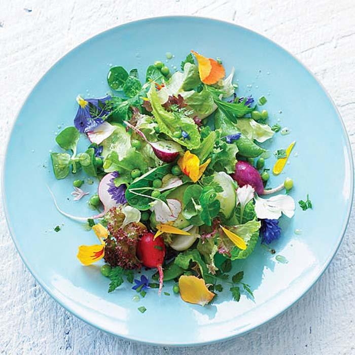 салат из цветков