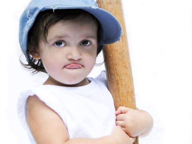 девочка бейсболистка