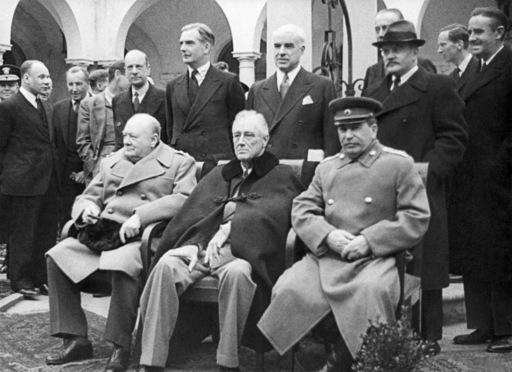Рузвельт, Сталин и Черчиль