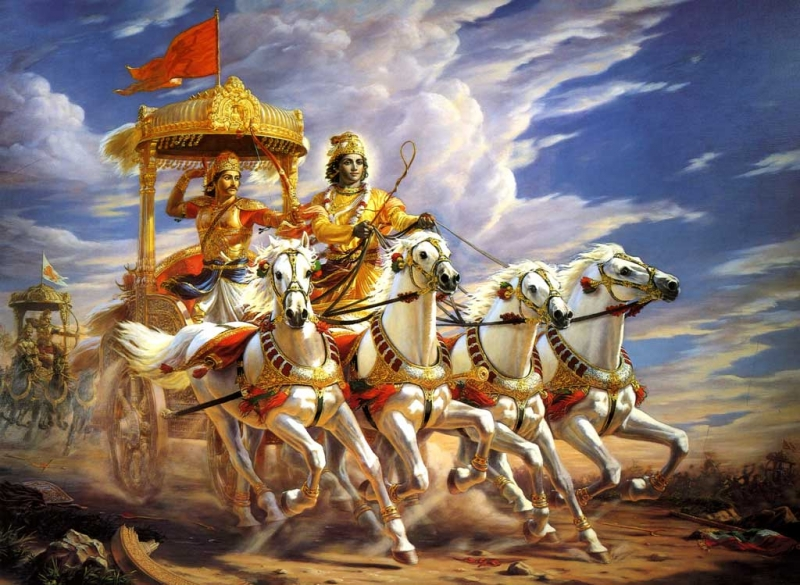 Махабхарата - Кришна и Аджуна