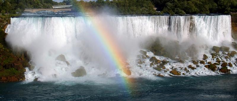 радуга на Ниагарском водопаде