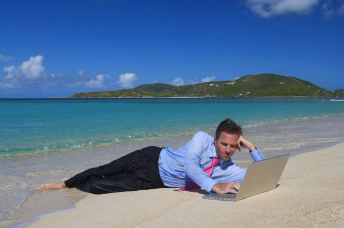 интернет на пляже